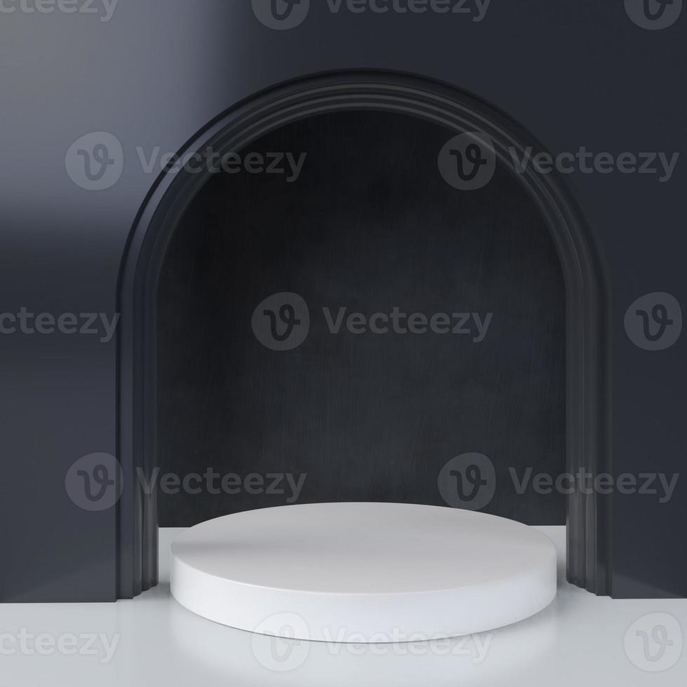 Representación 3D de arco blanco y negro foto