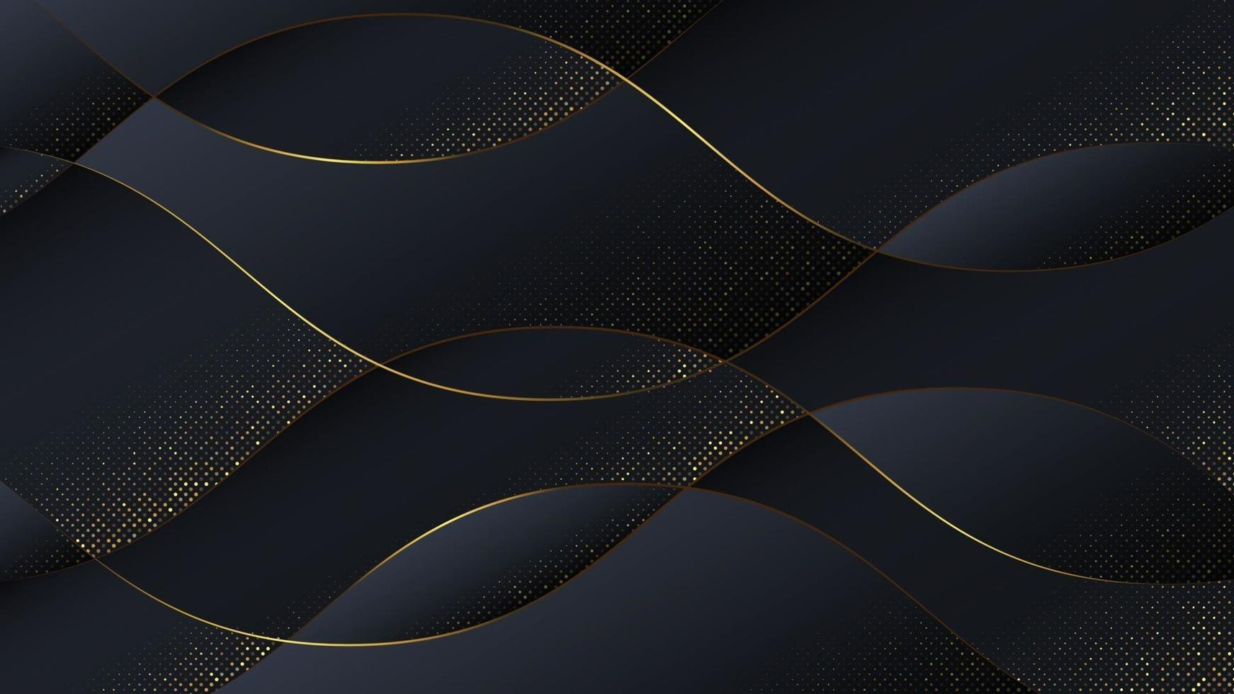 Luxury abstract background in wave style. vector