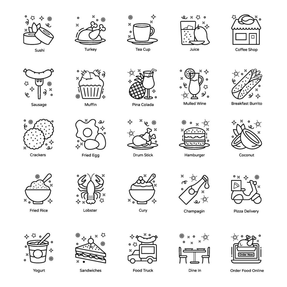 Food and Drinks Items vector