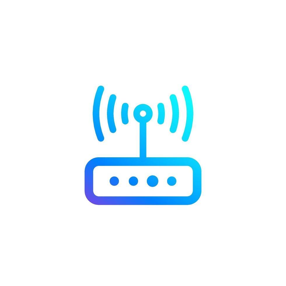 icono de enrutador para web y aplicaciones vector