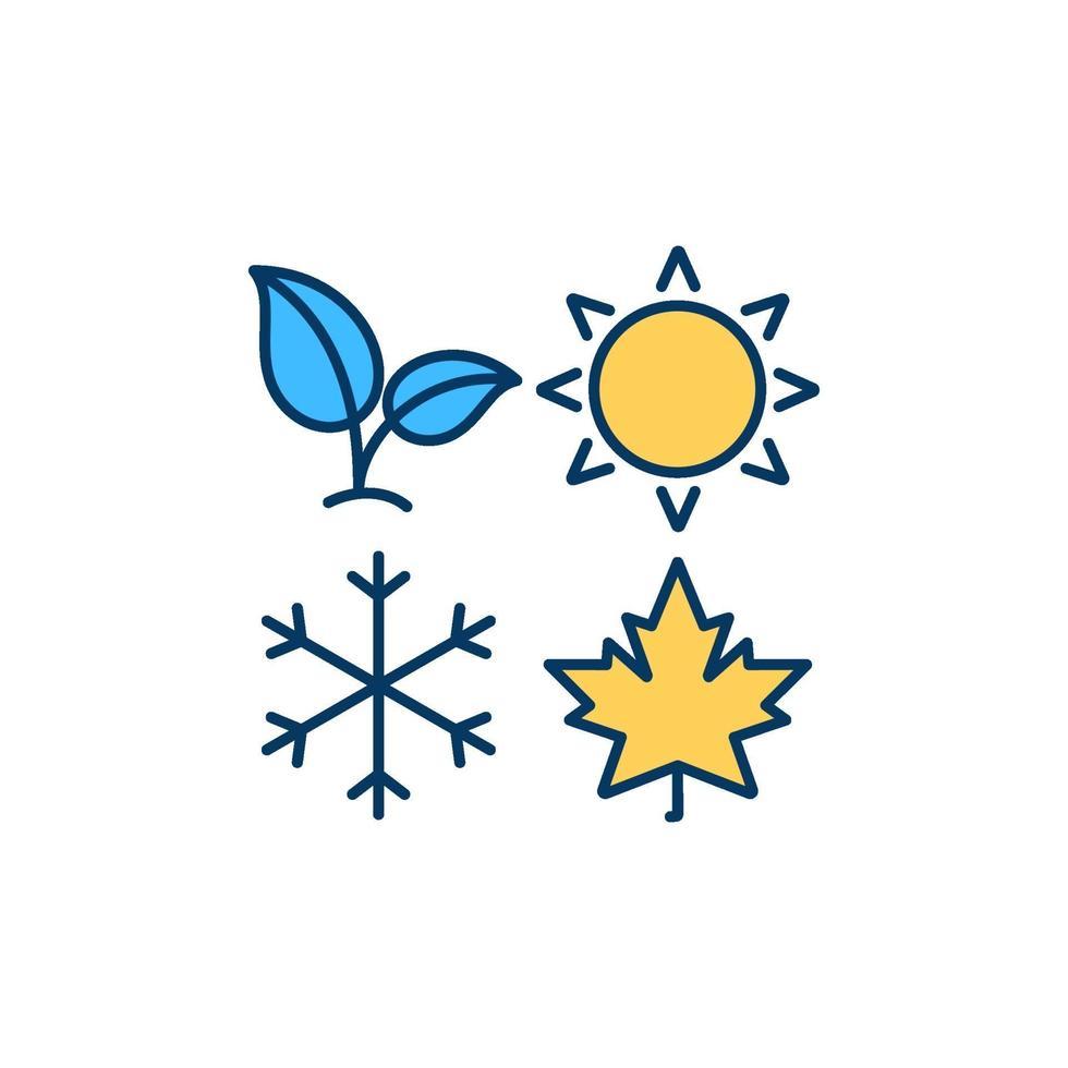 icono de color de temporadas rgb vector