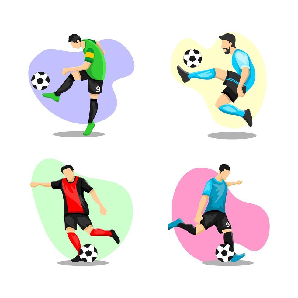 Football Player Character Set  Design vector