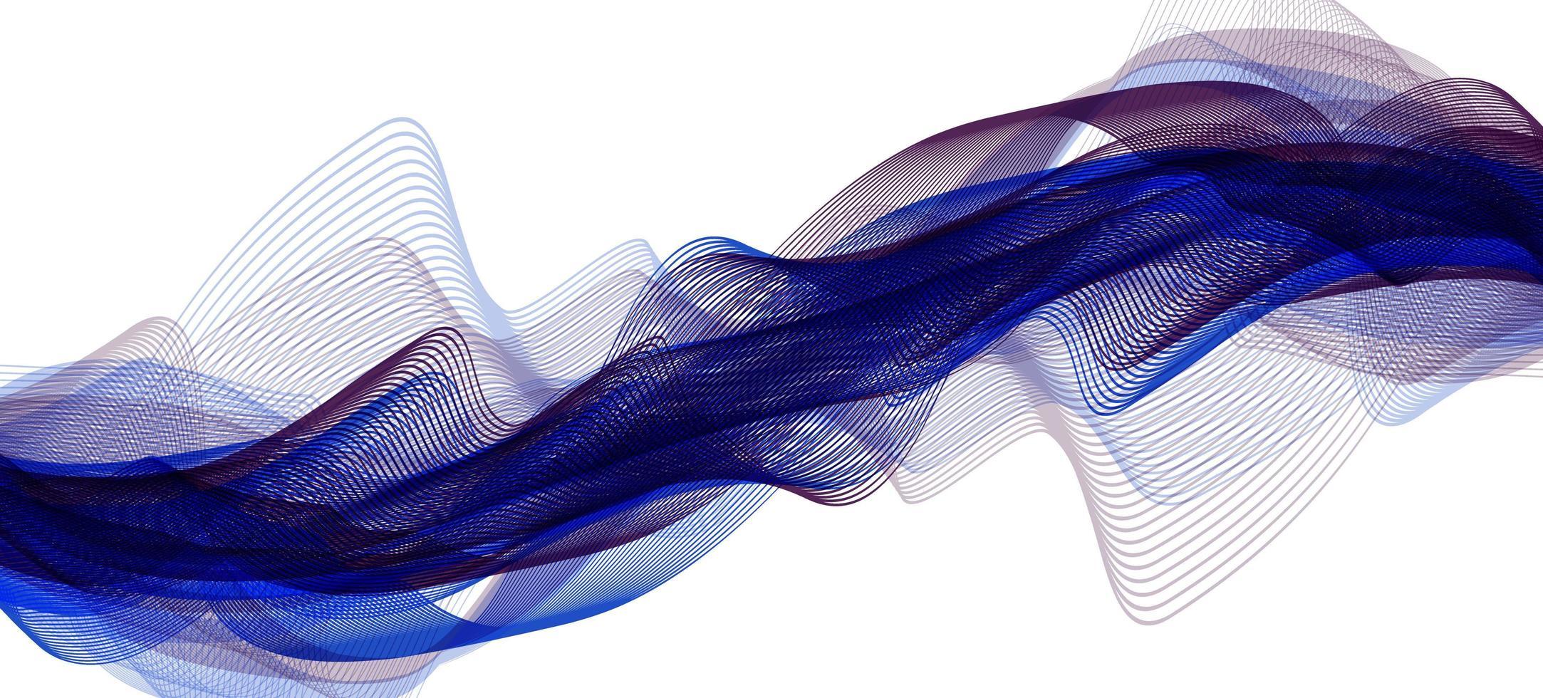 Modern Digital Sound Wave on Ultra Violet Background vector