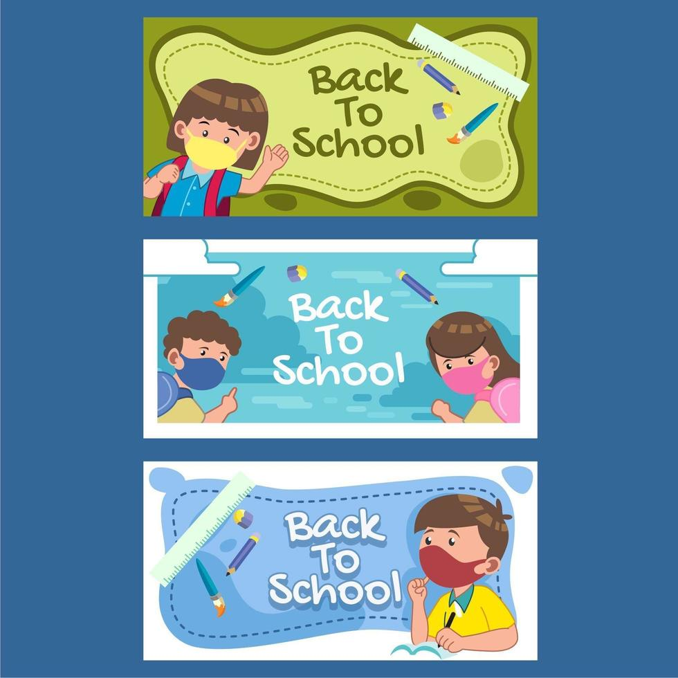Back to School New Normal vector