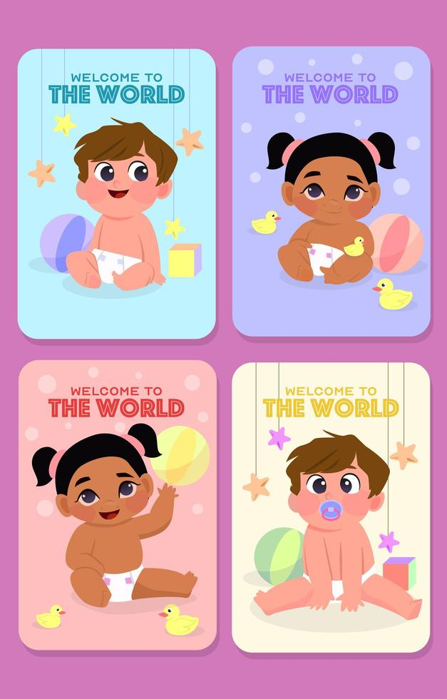 Welcome Newborns To The World vector