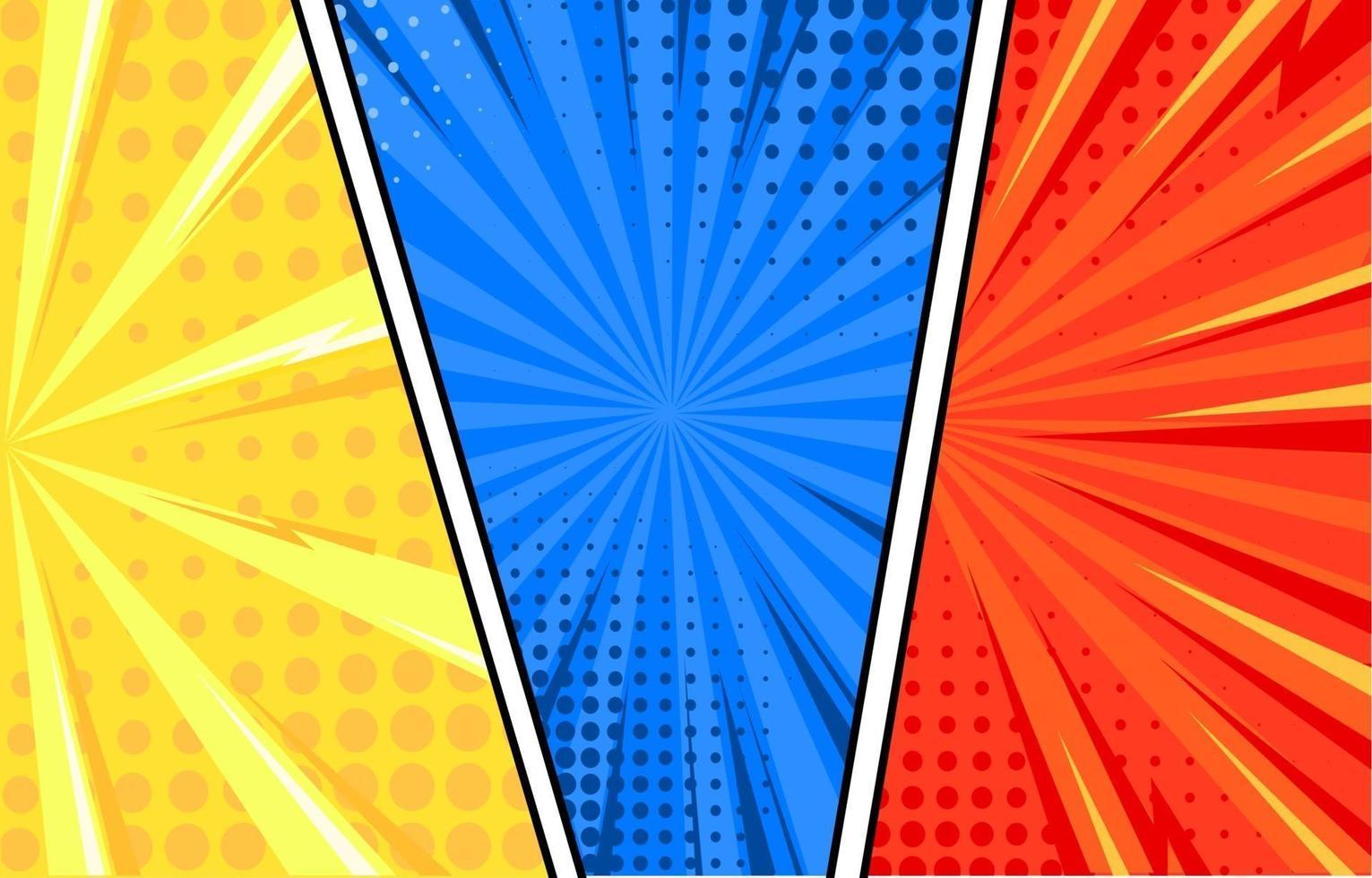 Cartoon Comic Halftone Background vector