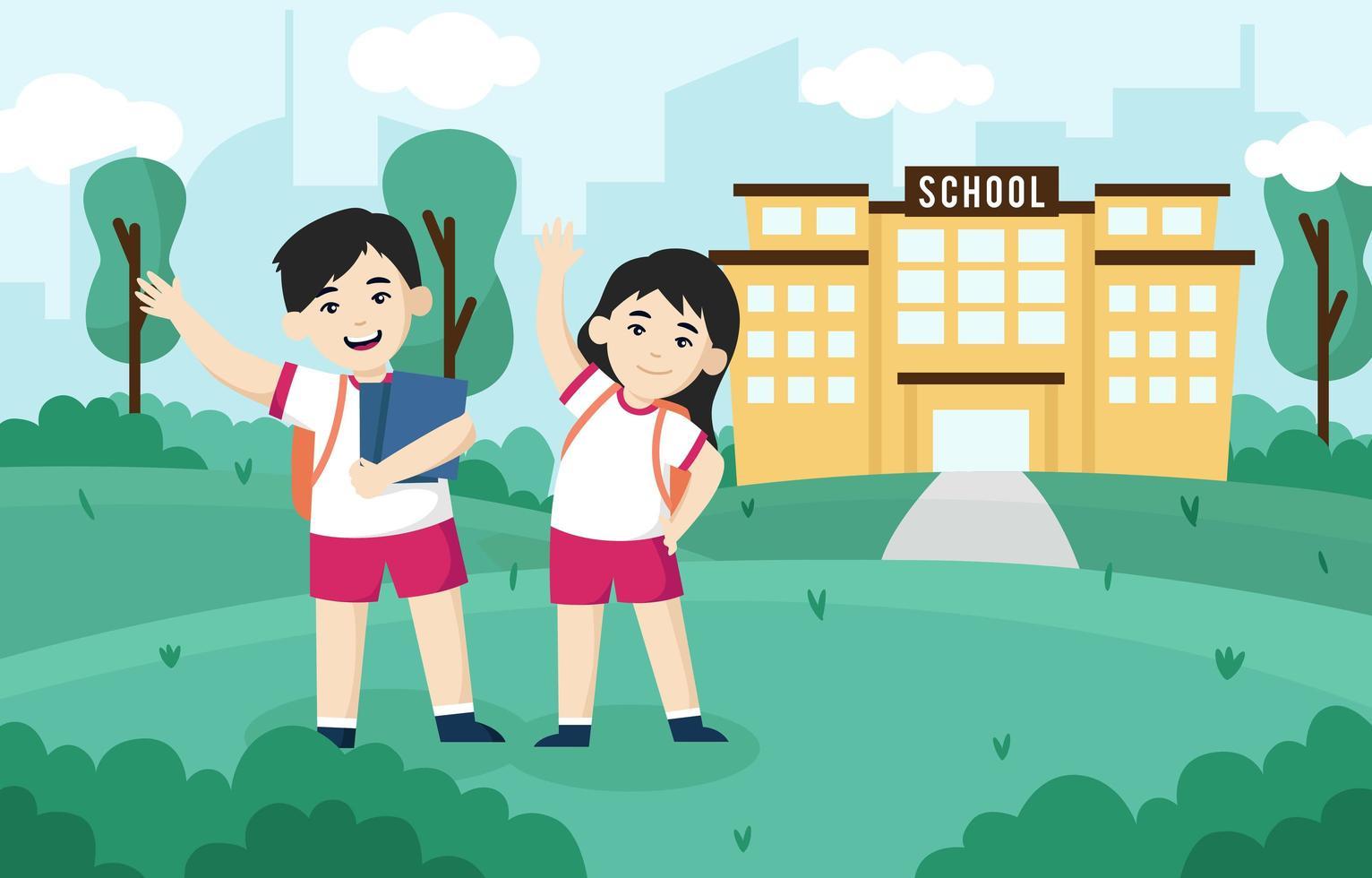Happy Kids Back to School Illustration vector