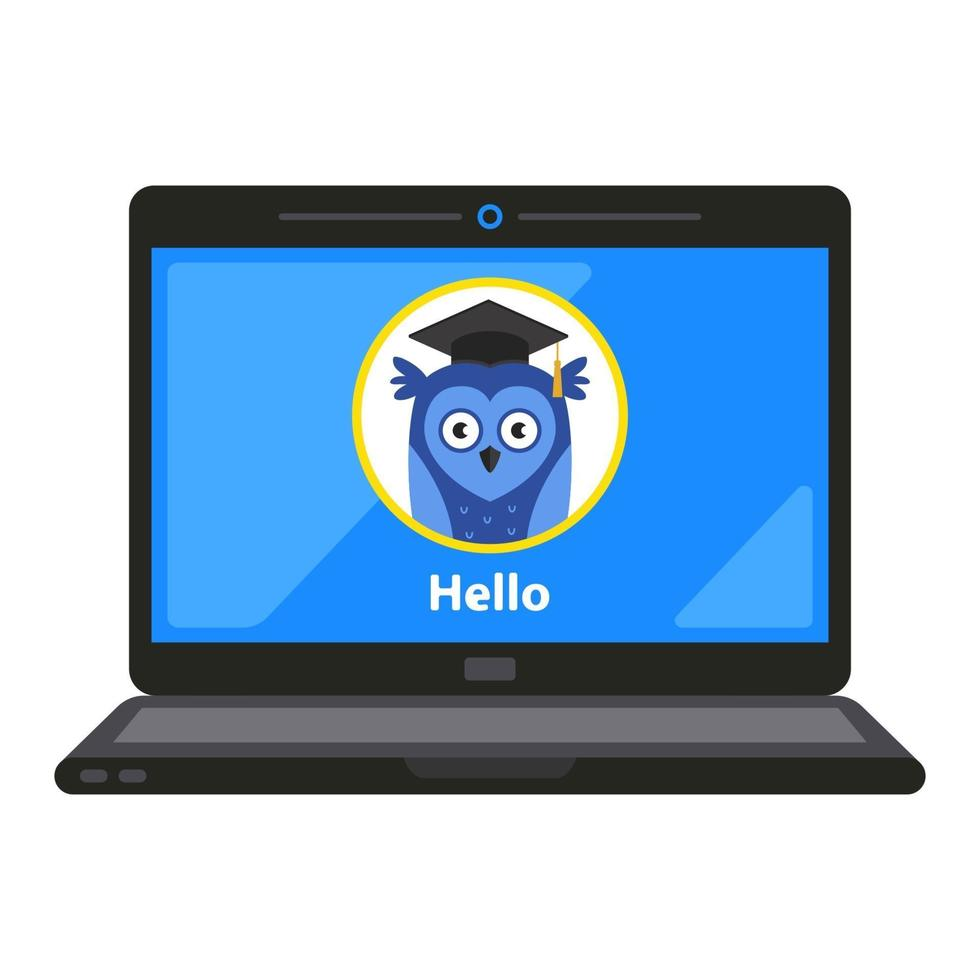 Distance learning for children concept vector