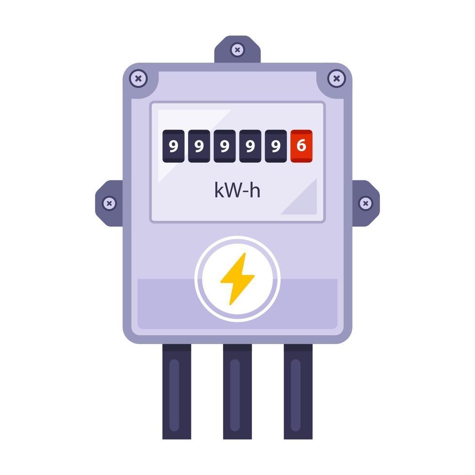 contador de electricidad casero vector