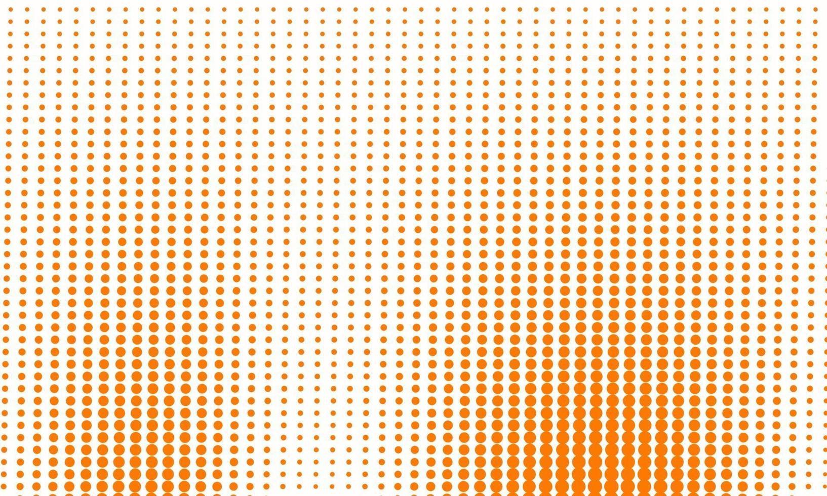Abstract Orange Halftone Pattern vector