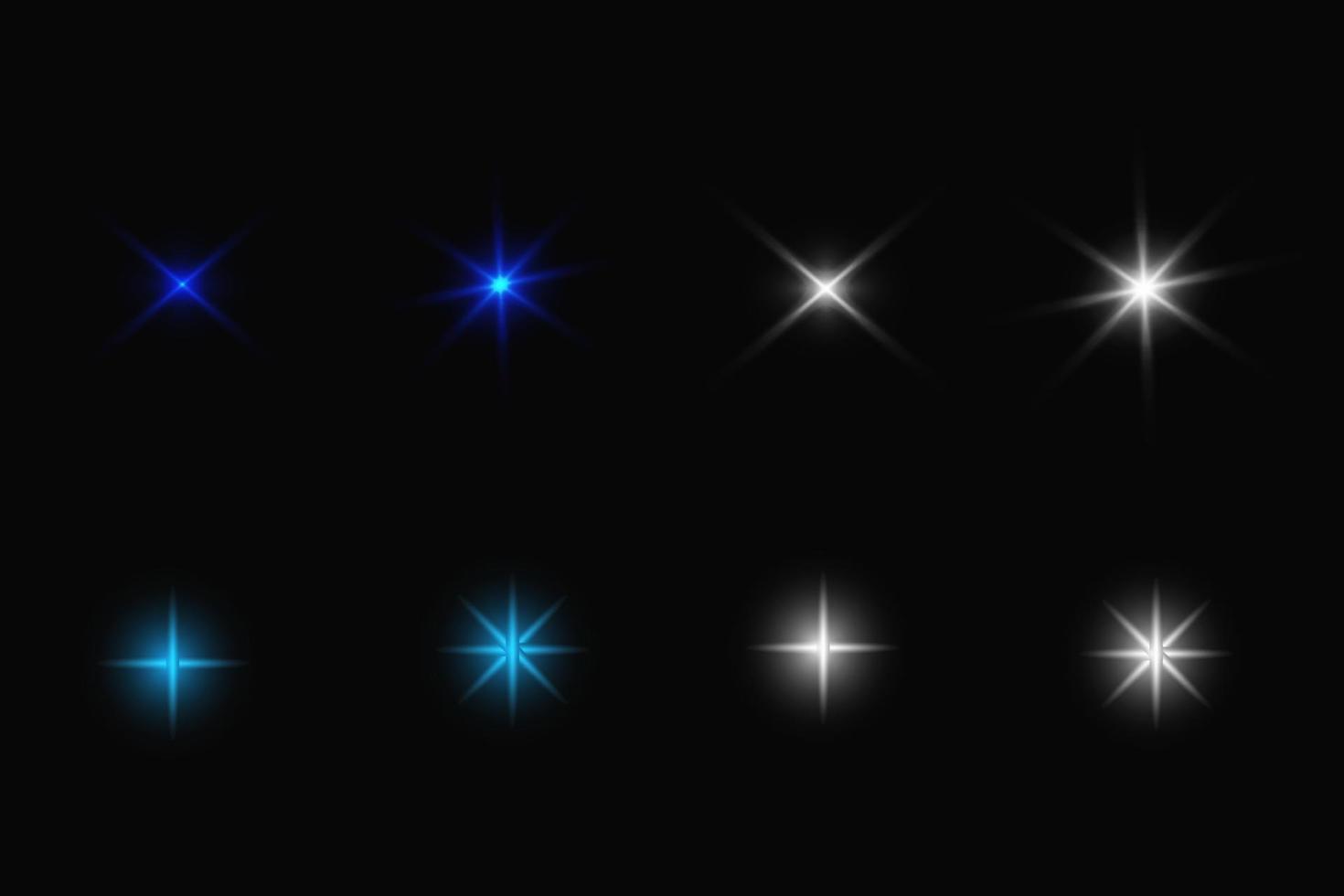 Bright Stars lights Set Illustration vector