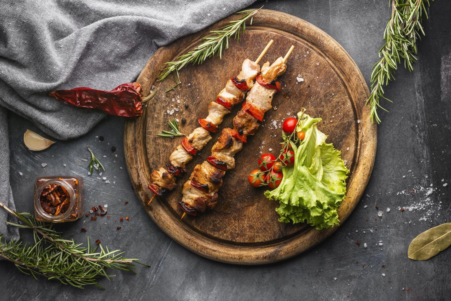 concepto de carne fresca laicos plana foto