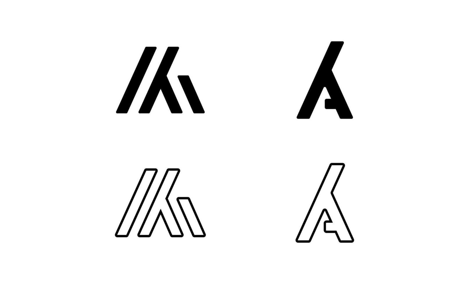 Initial KA logo template vector
