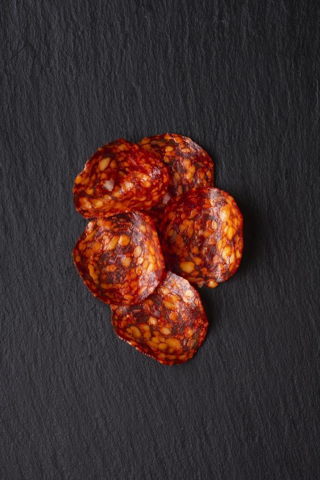 concepto de carne laicos plana con espacio de copia foto