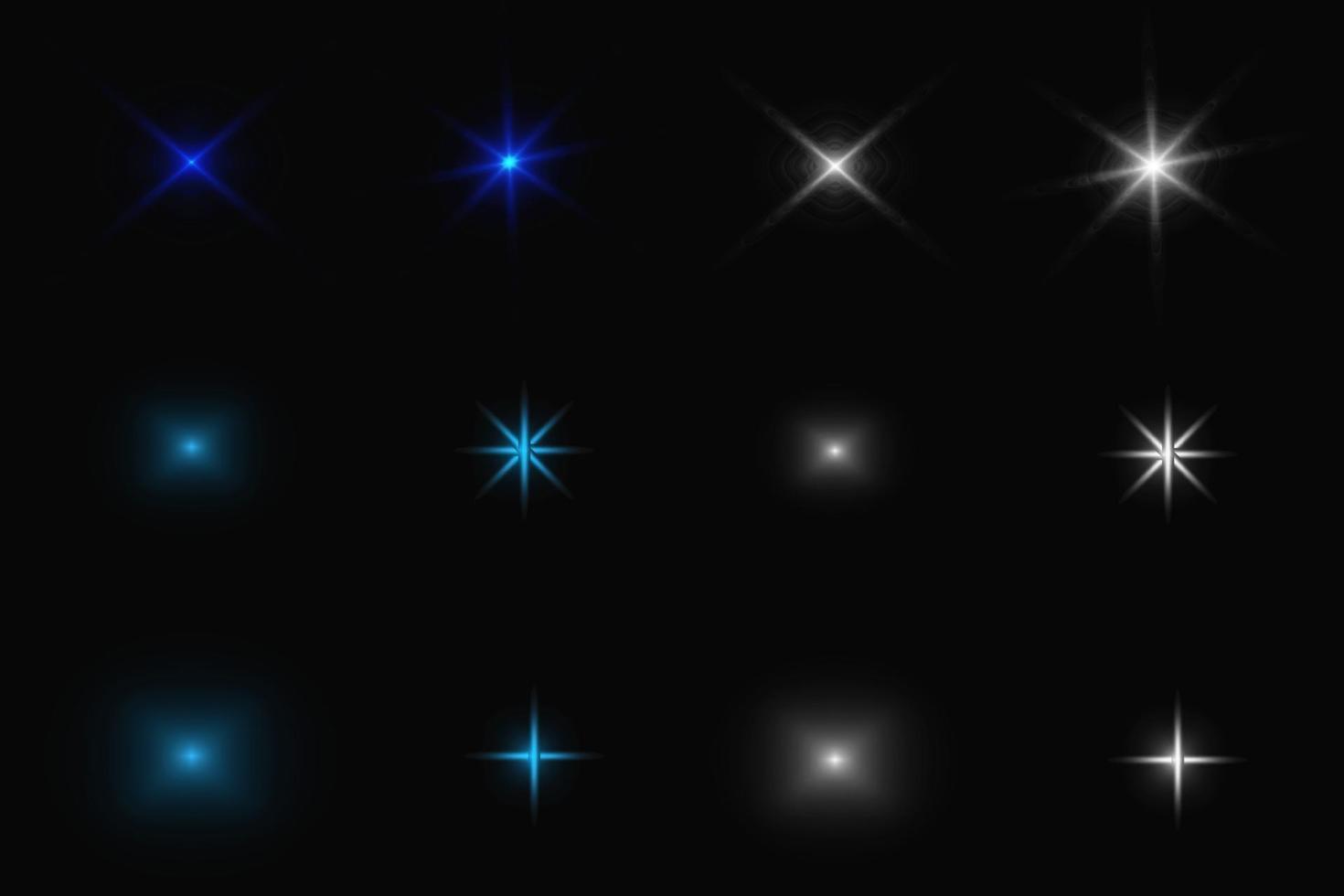 Sparkles Vector Set illustration
