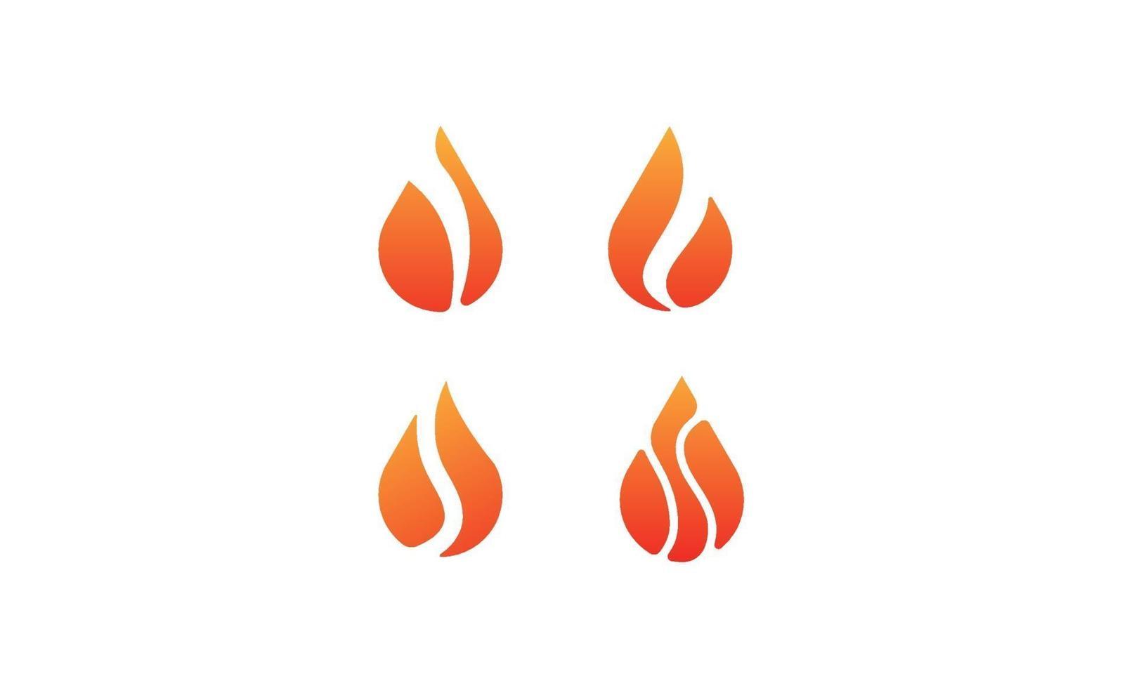 fire flame logo set vector template illustration graphic design