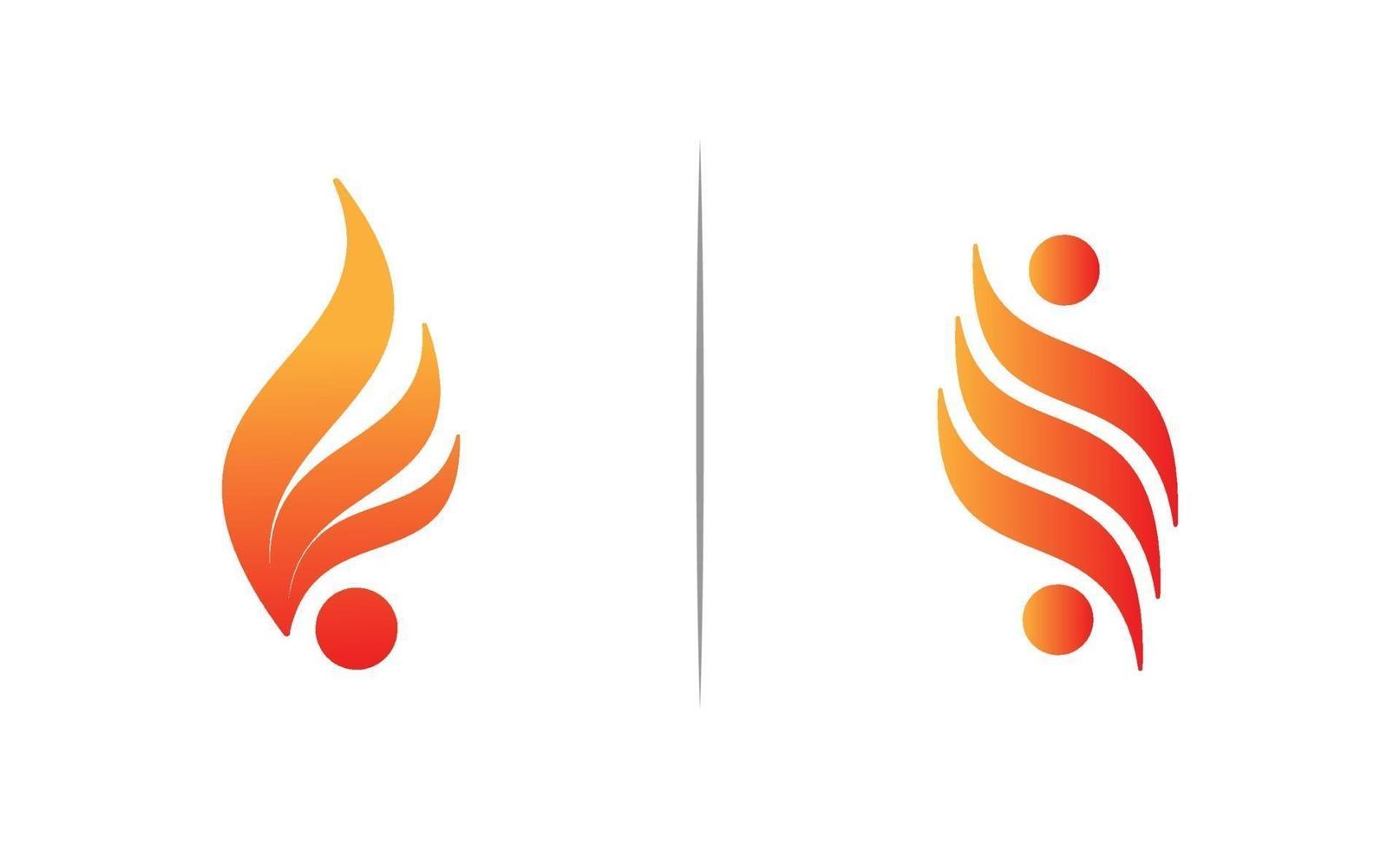 vector de plantilla de diseño de logotipo de llama de fuego