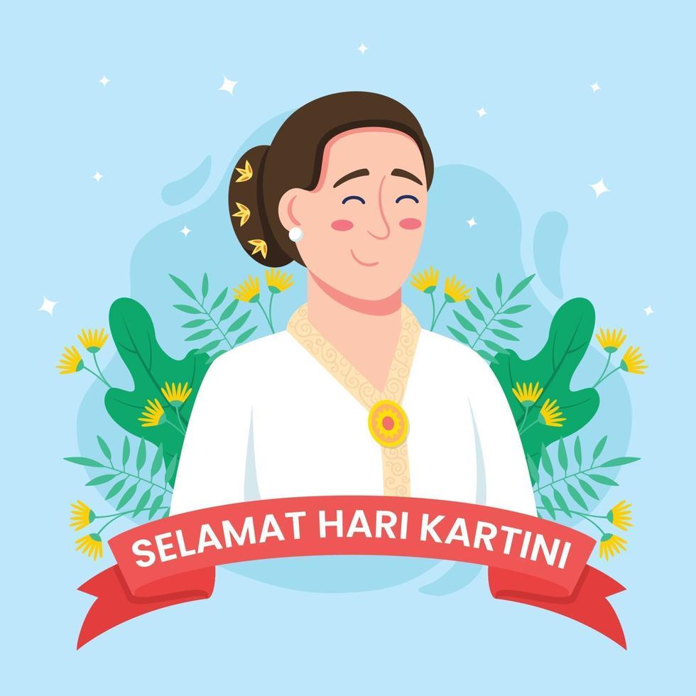 Happy Kartini Day Concept vector