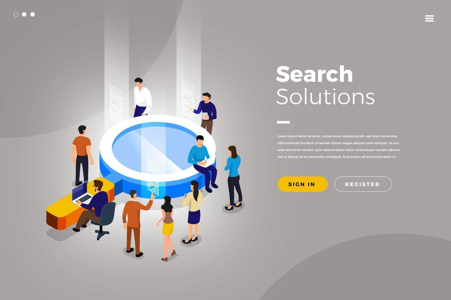 Isometric Search Solution vector