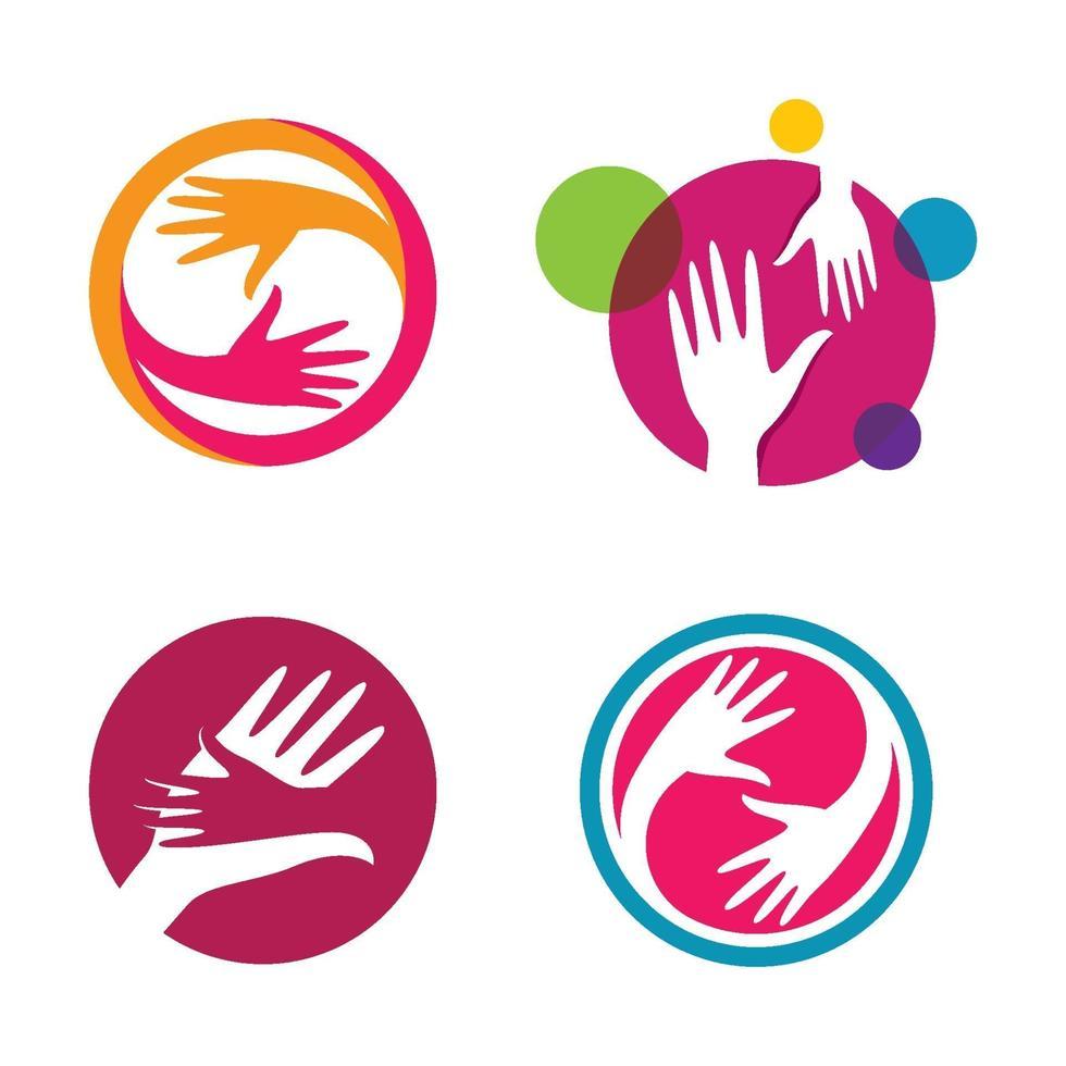 imagenes logo mano vector