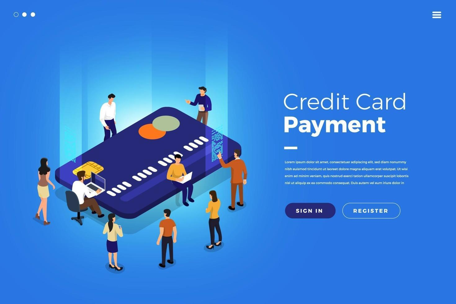 Isometric Credit Card vector