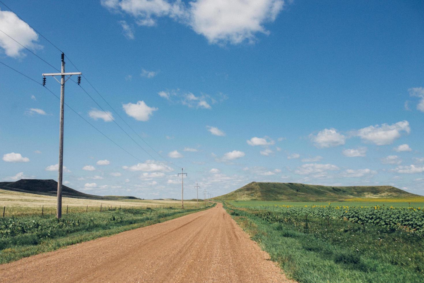 Open dirt road in South Dakota photo