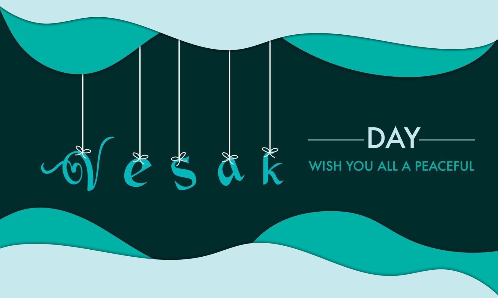 Vesak Day With Hang Text Background vector