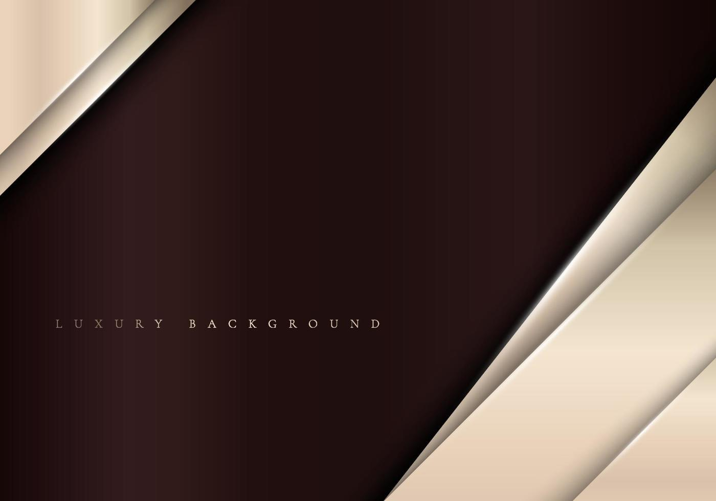 Elegant metallic template background with diagonal golden stripes luxury style. vector