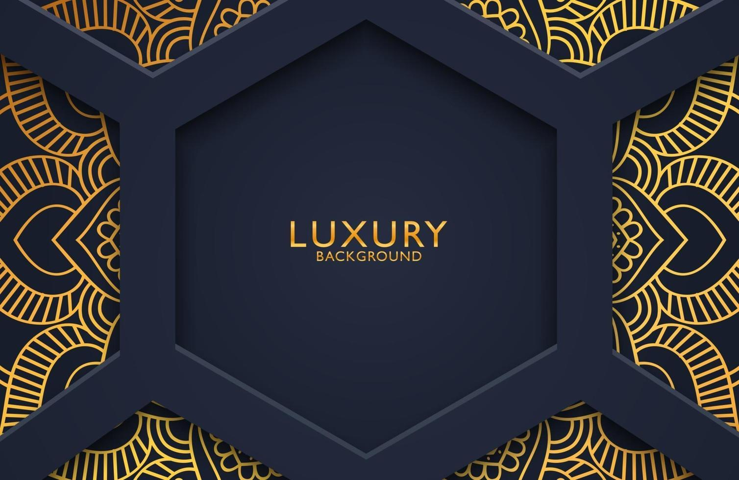 Luxury 3d background with gold mandala ornate for wedding invitation, book cover. Arabesque islamic background vector