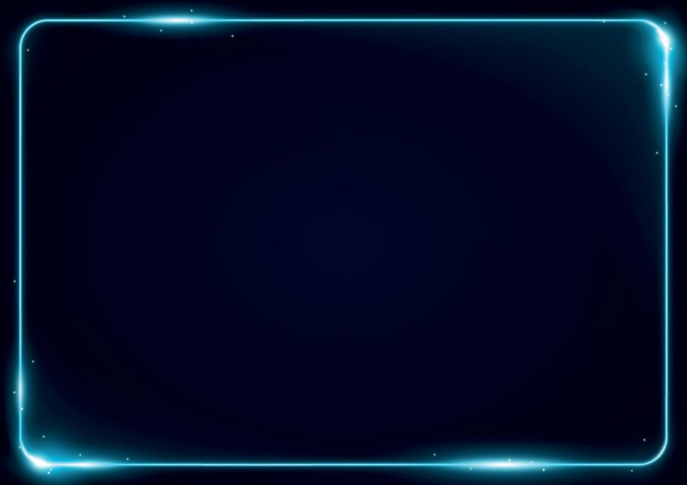 Glowing Neon Border Frame Template vector
