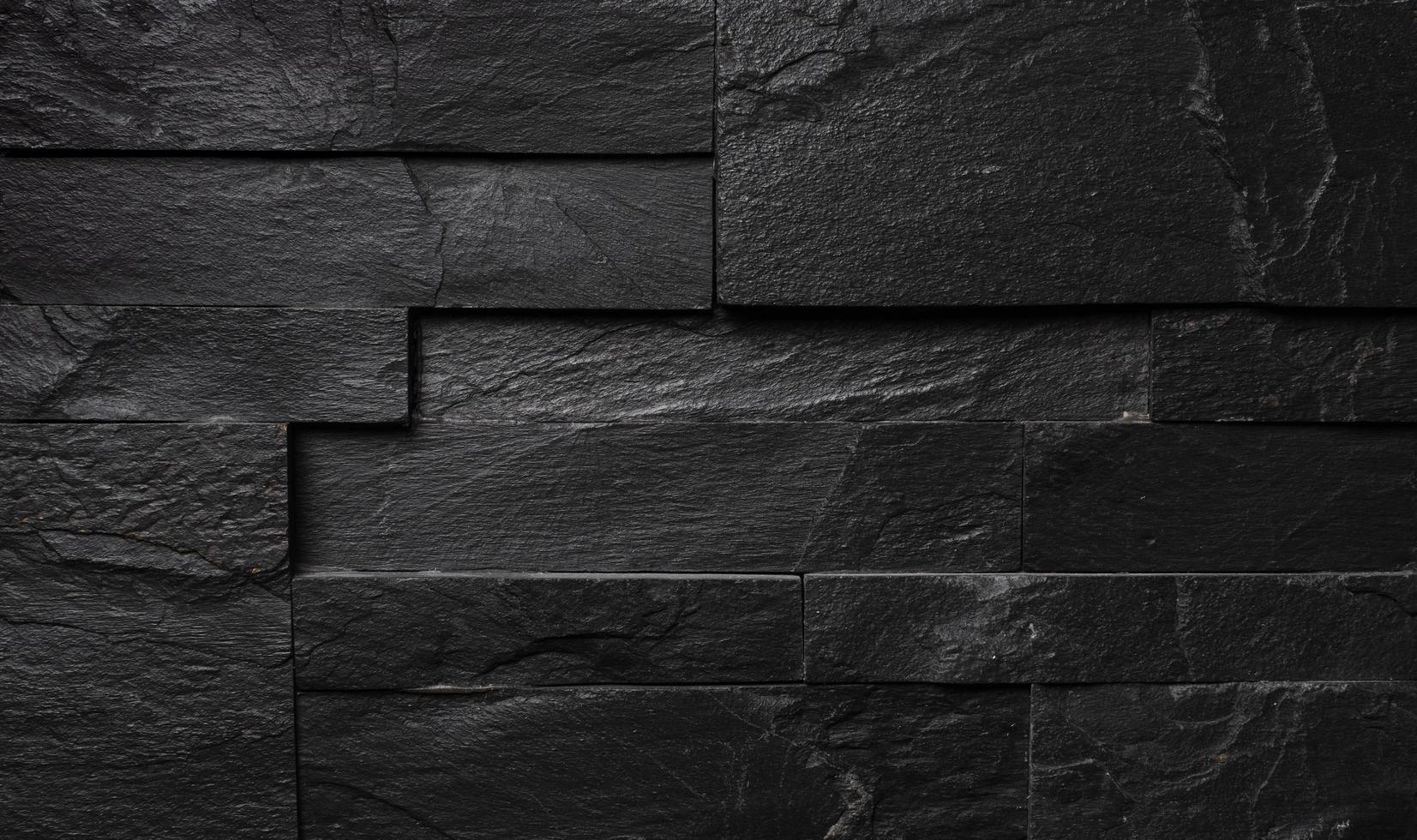 Blackened brick wall, industrial texture photo