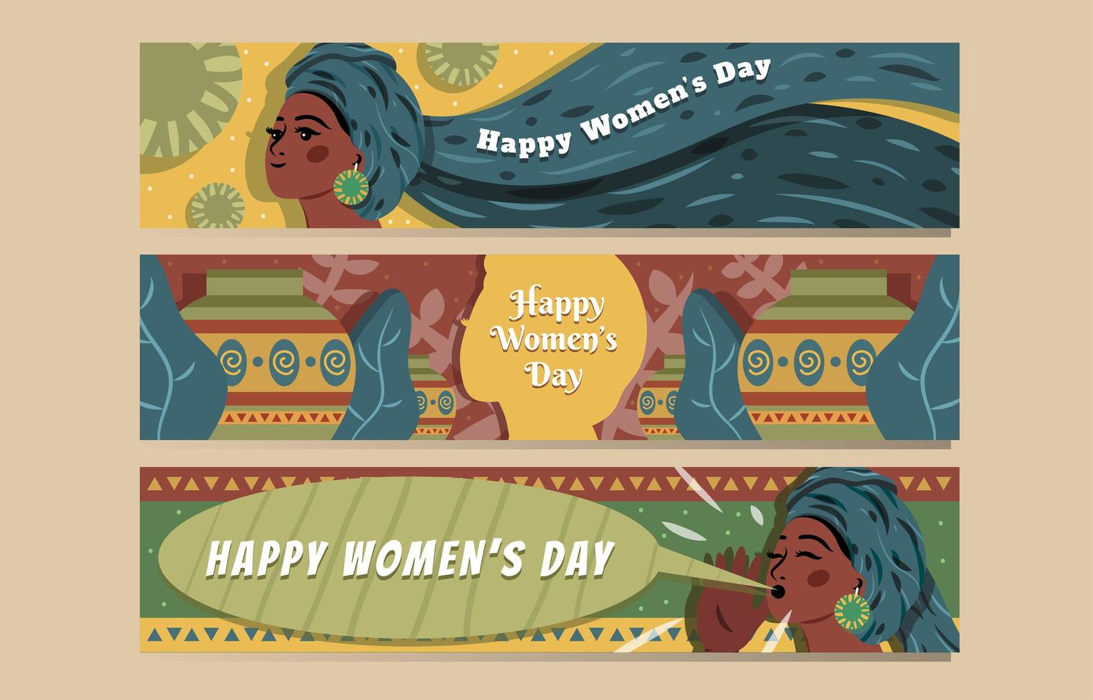 Happy Women's Day Banner Concept vector