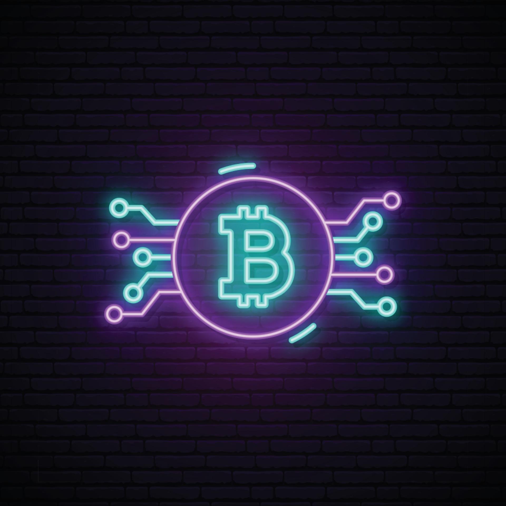 neon sign bitcoin