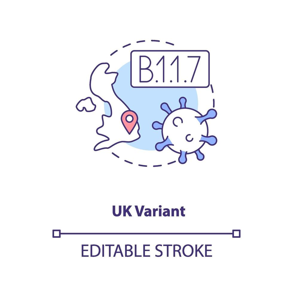 Uk variant concept icon vector