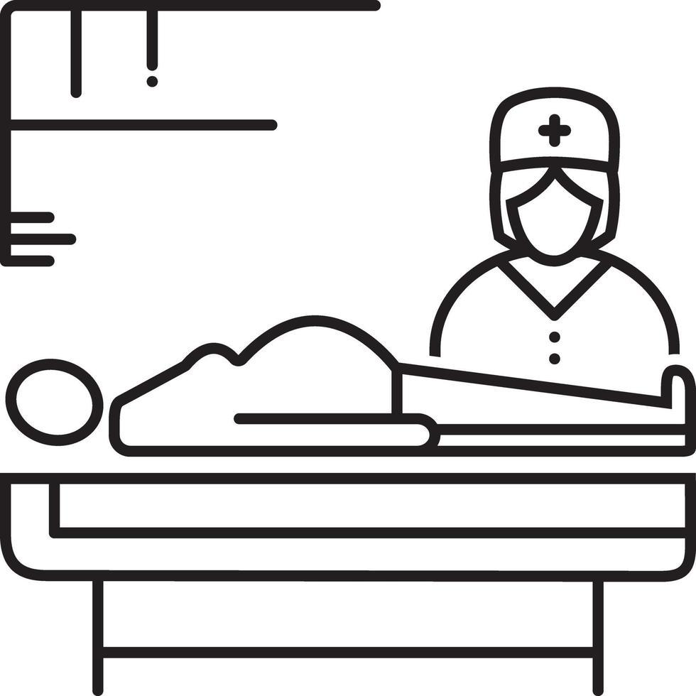 icono de línea para obstetricia vector