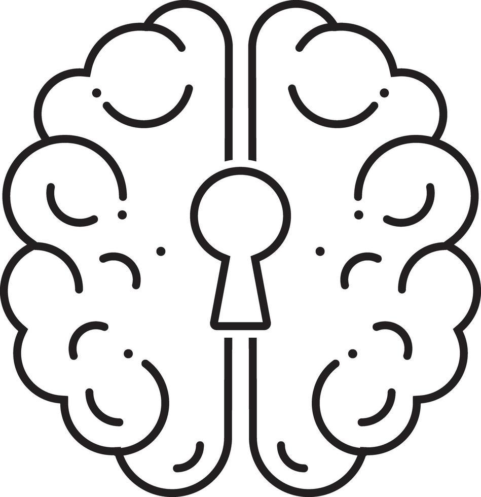 icono de línea para psiquiatría vector