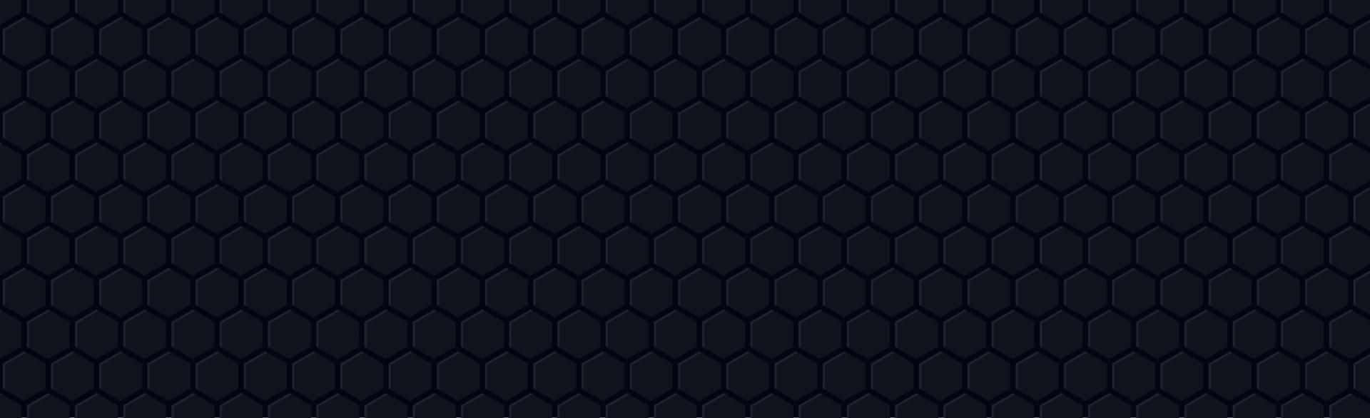 hexágonos oscuros sobre un fondo negro - vector