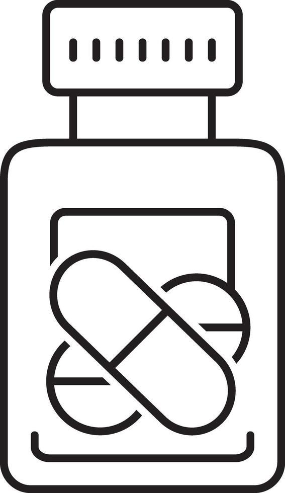 icono de línea de medicación vector