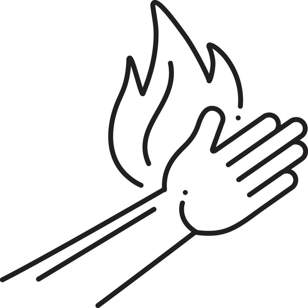icono de línea para quemar vector