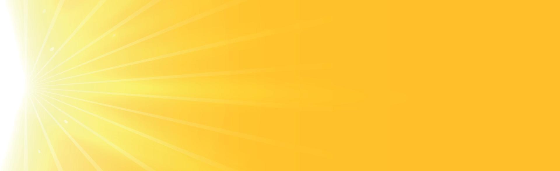 sol brillante sobre un fondo amarillo-naranja - ilustración vector