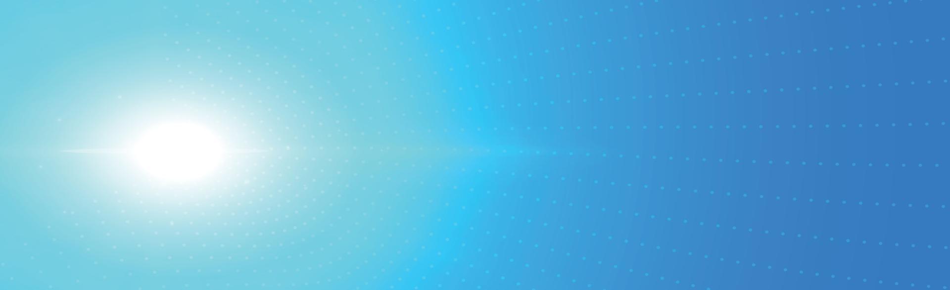 Fondo panorámico soleado en color azul suave - ilustración vector