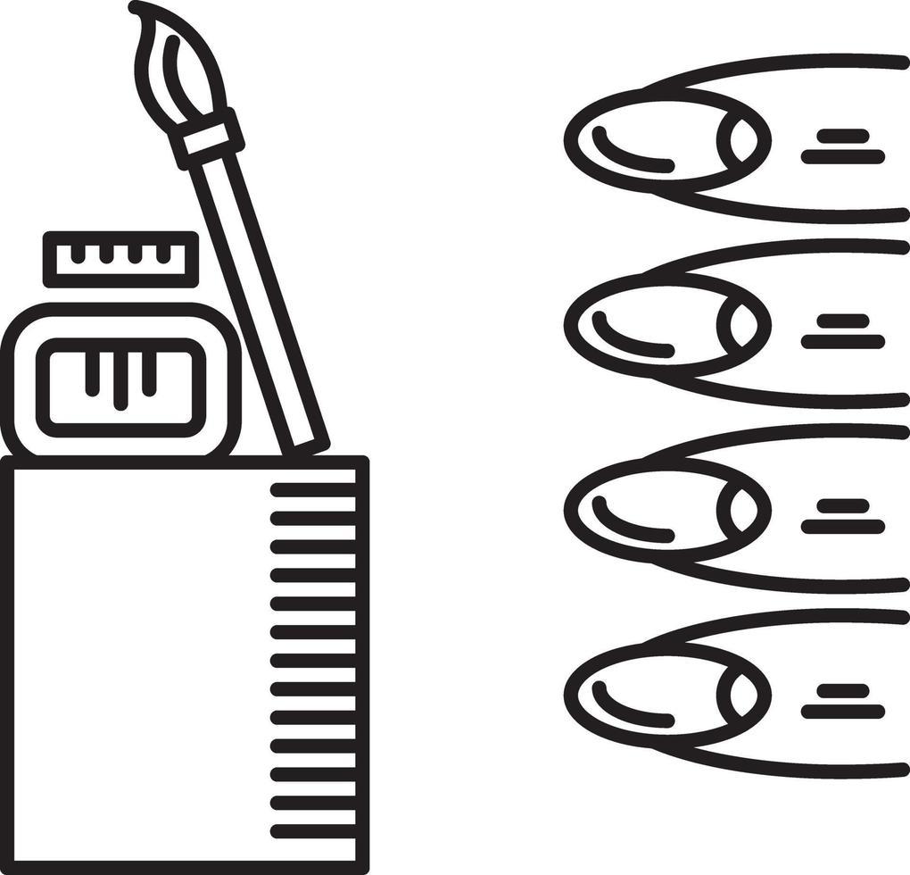 icono de línea para salones de uñas vector