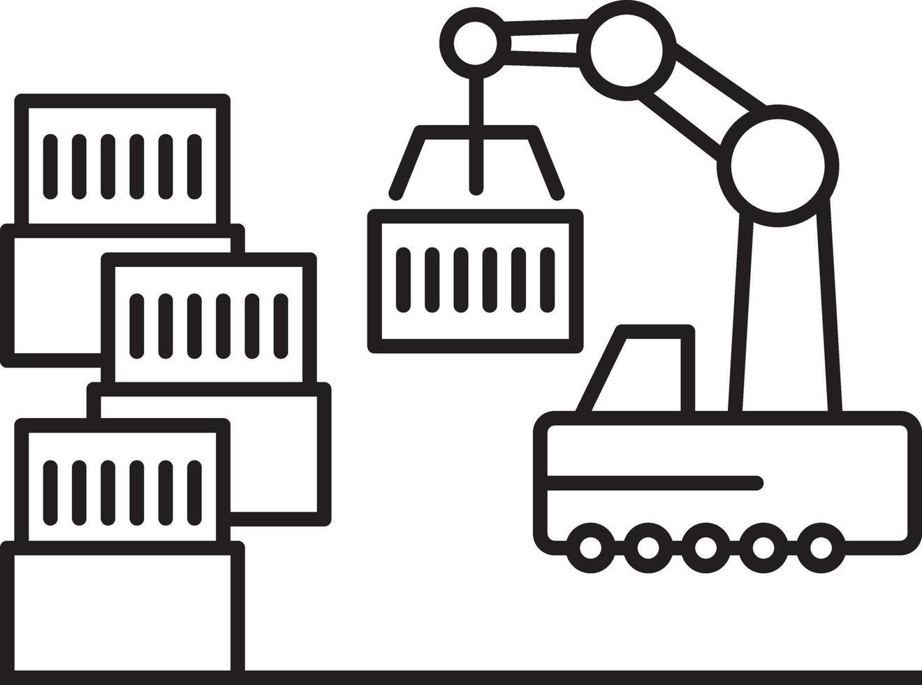 icono de línea para la fabricación vector