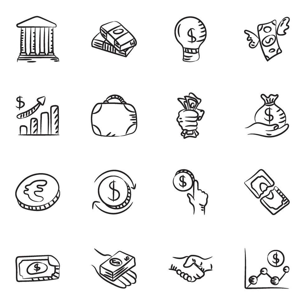 dinero y finanzas vector