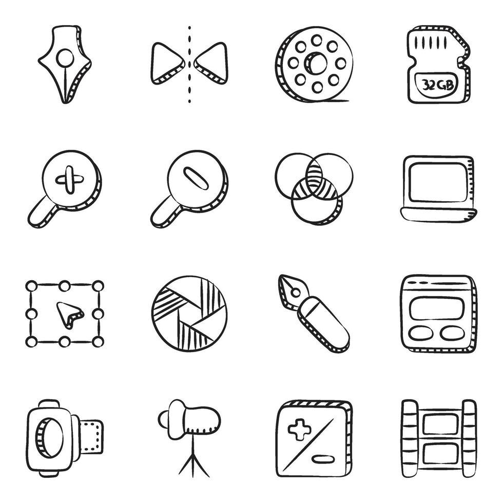 fotografía y elementos de diseño vector