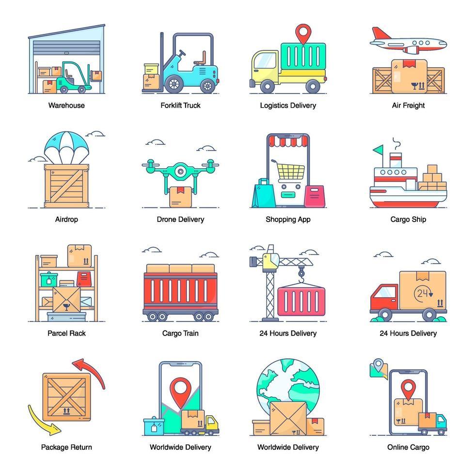 servicios de entrega modernos vector