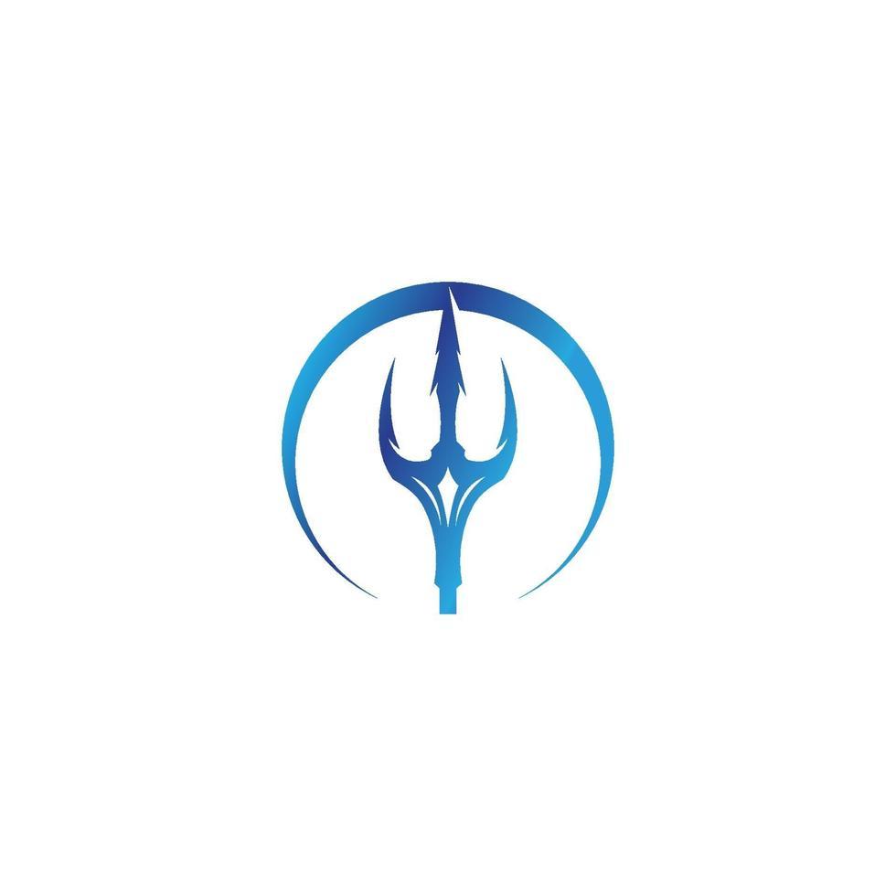 logotipo del tridente mágico vector