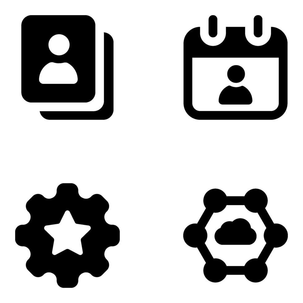 marketing y gestión empresarial editable vector