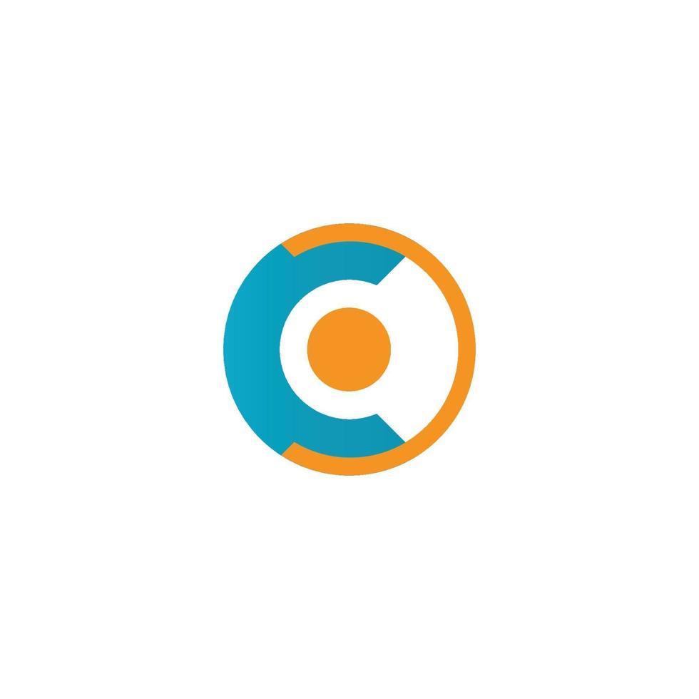plantilla de vector de símbolo de logotipo de círculo