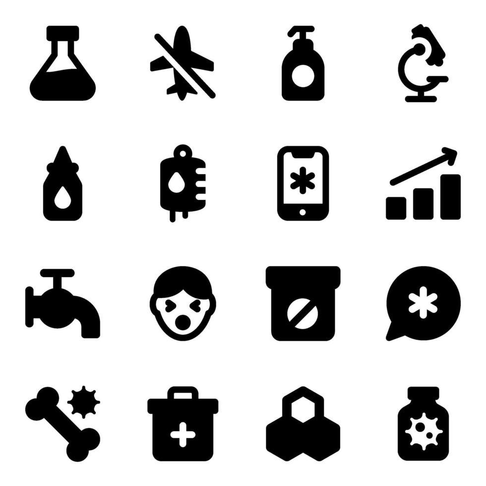 laboratorio y elementos medicos vector